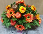 Fall daisies Monument saddle