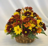FALL DAISY BASKET Flower Arrangement