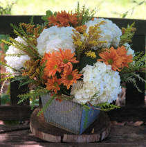 fall day  flower arrangement