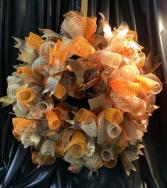 Fall Deco Wreath WF-F005 Fall Deco Mesh Wreath