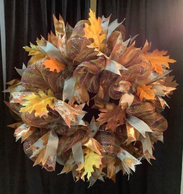 Fall Deco Wreath WF F008 Fall Deco Mesh Wreath