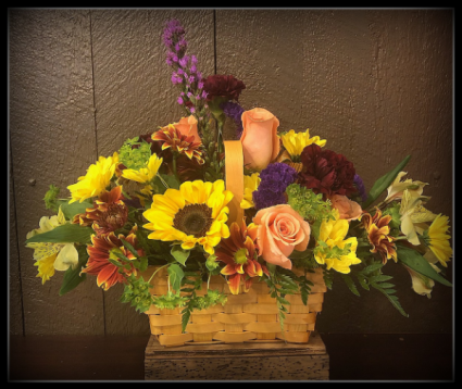 Fall Delight Basket Arrangement