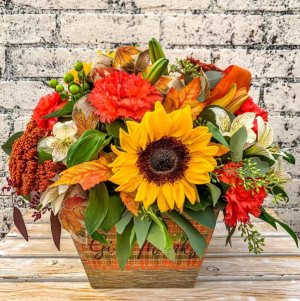 Fall Designer's Choice arrangement in International Falls, MN | Gearhart's Floral And Gifts