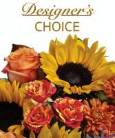 Fall Designer's Choice Arrangement Fresh Mixed Fall Arrangement