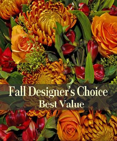Fall Best Seller Designers Choice Vase or Basket Arrangement