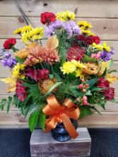 Fall Designers Choice Funeral Bouquet