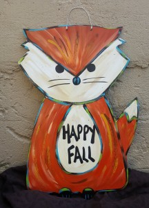 Fall Door Hanger Happy Fall Fox