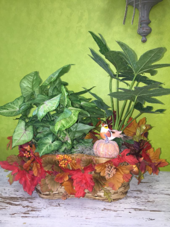 Fall Double Plant Basket