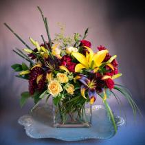 Autumn Embers Vase Arrangement