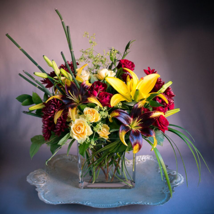 Autumn Embers Vase Arrangement