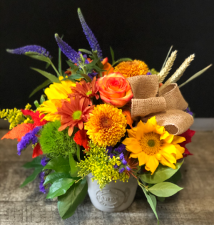 Fall Explosion  Fall Flowers with fall accents in Key West, FL | Petals & Vines