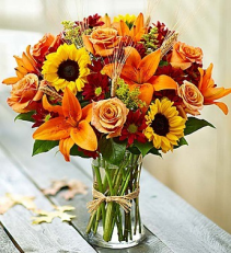 Fall Explosion  Vase arrangement