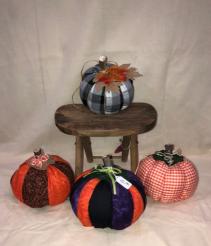 Fall Fabric Pumpkins Custom