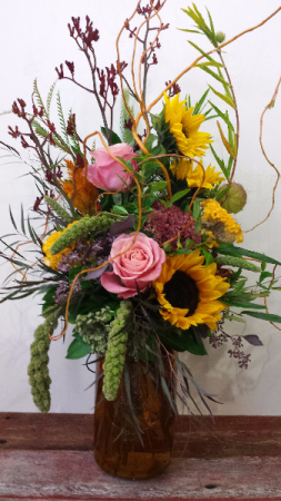Fall Fancies Vase Arrangement in Astoria, OR | BLOOMIN CRAZY FLORAL
