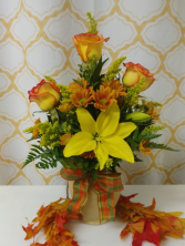 Fall Fancy vase arrangement
