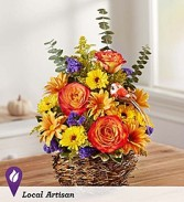 Fall Fanfare Basket Arrangement