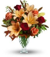 Fall Fantasia Vase Arrangement