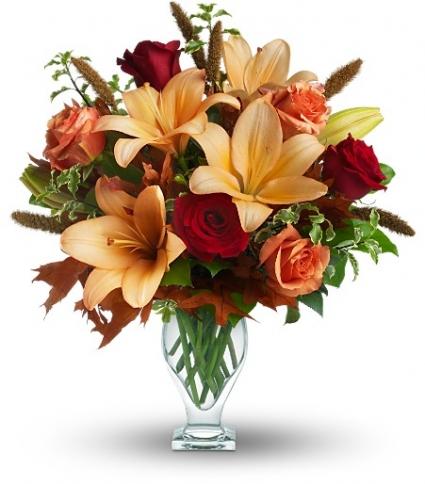 Fall Fantasia Vase Arrangement