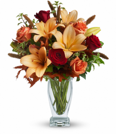 Fall Fantasia One-Sided Floral Arrangement