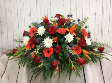 Fall Farewell Casket Spray
