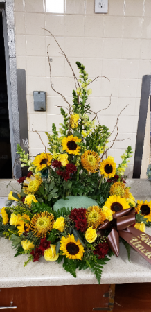 Fall Farewell Urn Riser in Port Huron, MI   CHRISTOPHER'S FLOWERS