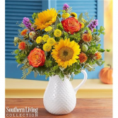 Fall farmhouse pitchure Fall Arrangement