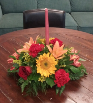 Fall Feast Centerpiece in Bluffton, SC | BERKELEY FLOWERS & GIFTS