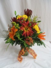 Fall Festival Fresh Vased Arrangement