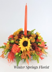 Fall Festive  Centerpiece  in Winter Springs, FL   WINTER SPRINGS FLORIST AND GIFTS