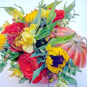 Fall Festivity Centerpiece Keepsake in Milwaukie, OR | Mary Jean's Flowers by Poppies & Paisley