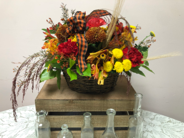 Fall Fields Basket Fall Arrangement