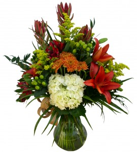 Fall Fireside  Vase Arrangement in Akron, PA | ROXANNE'S FLOWERS