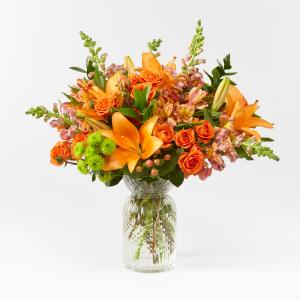 Fall Flair Fall Toned Vase Arrangement in Saskatoon, SK | QUINN & KIM'S FLOWERS
