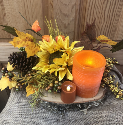 Fall Flame Artificial Floral Design