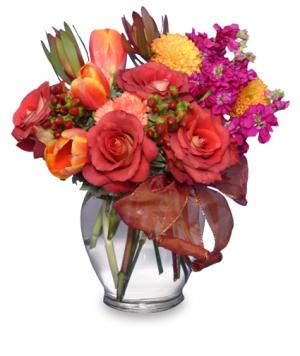 FALL FLIRTATIONS Vase Arrangement in Omaha, NE | BLOOMS