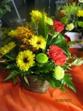 Fall Floral Basket Fresh Floral Arrangement