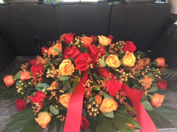 Fall Floral Tribute Funeral