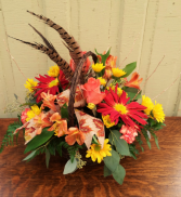 Fall Flourish Basket Arrangement