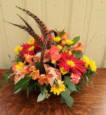Fall Flourish Basket Arrangement
