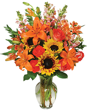 Fall Flower Gala Arrangement in Hinton, AB | HINTON FLORIST & GIFTS