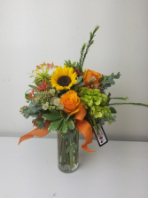 Fall for Orange Flower Arrangement