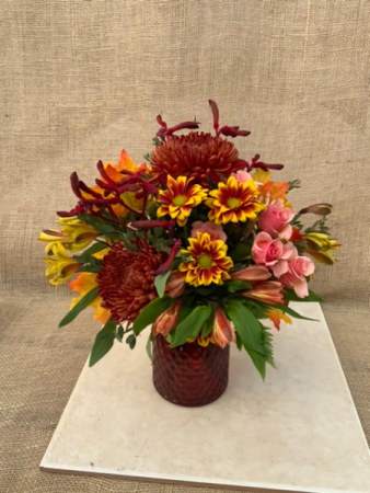 Fall Forever Fresh vase arrangement