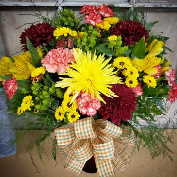 Fall Fresh Cut In Fall Colored vase Fresh Flowers Fall
