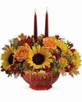FALL GARDEN CENTERPIECE  Arrangement of Flowers
