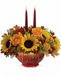 FALL GARDEN CENTERPIECE  Arrangement of Flowers
