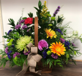 Fall garden Basket Arrangement