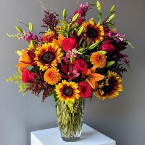 Fall Garden Sendoff Sympathy Arrangement in Croton On Hudson, NY   Cooke's Little Shoppe Of Flowers