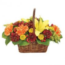 Fall Gathering Basket Arrangement