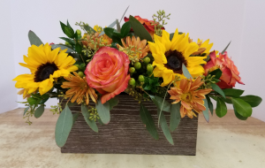 Fall Gathering Box Fresh Arrangement in Bolivar, MO | The Flower Patch...& More