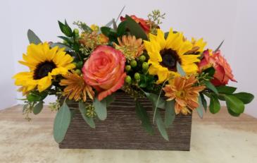 Fall Gathering Box Fresh Arrangement